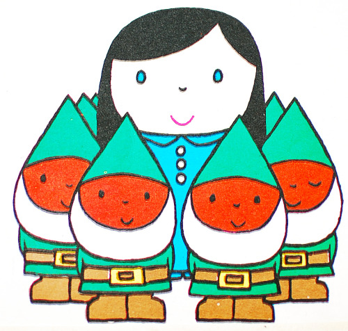 Snow-White and the Seven Dwarves by Dick Bruna ~ Follett/Padideh, 1966
