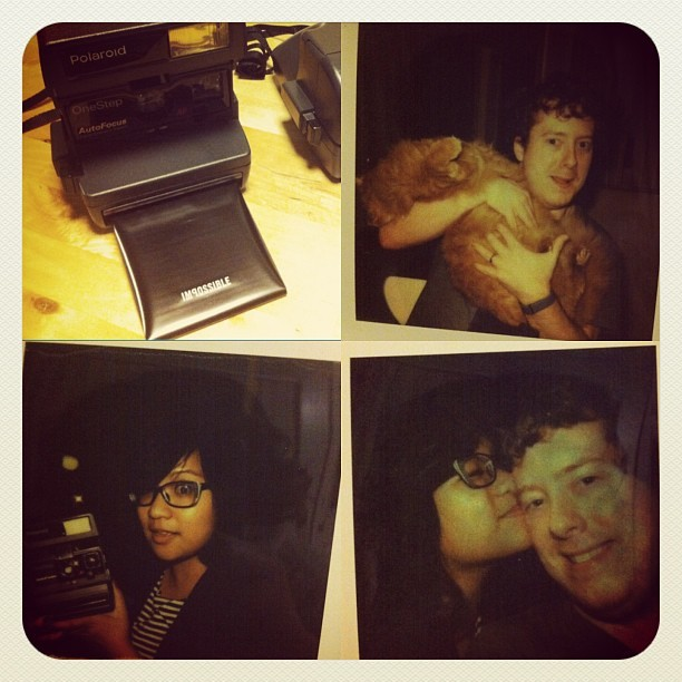 Anniversary gift from the spouse to both of us- matching Polaroids! The original IG w/ 40 min processing. #hipstah
