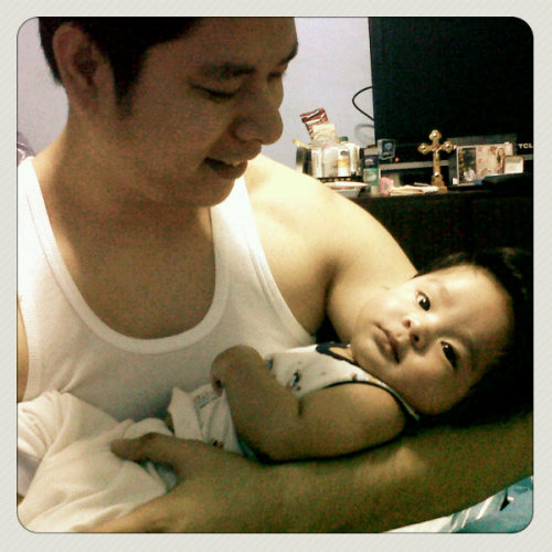 Baby Aki & Tito JV :D (Photo taken and uploaded via MOLOME )