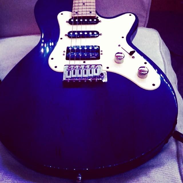 Hello there old friend. #guitar #studio #godin