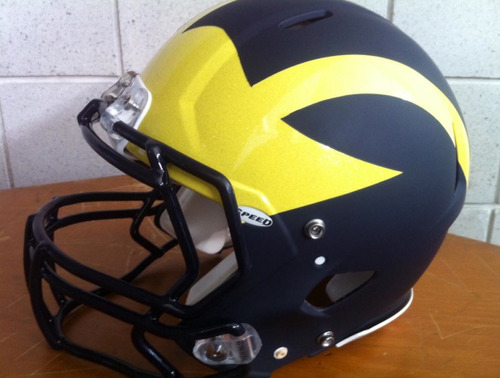New Michigan matte blue football helmet [Photo] For the latest and greatest threads to hit the market, visit Gamedayr Uni Blog.