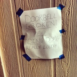 This is our door bell. #door #doorbell #college #collegelife #funny #TagsForLikes #hilarious #laugh #laughing #tweegram #fun #friends #photooftheday #friend #wacky #crazy #silly #witty #instahappy #epic #instagood #instafun #funnypictures #haha #humor