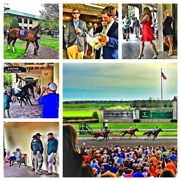 Fun at the #racetrack. #keeneland in the spring!