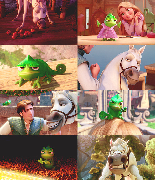 Disney Meme | Favorite Sidekicks → Pascal & Maximus (Tangled)