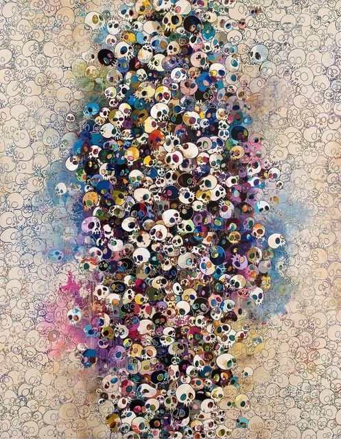 cavetocanvas:  Takashi Murakami, Who's Afraid of Red, Yellow, Blue and Death, 2010