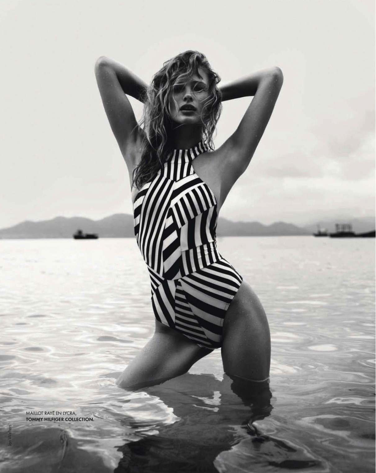 labellefabuleuse:  Edita Vilkeviciute in Tommy Hilfiger, Spring 2013 photographed by Jan Welters for Elle France No. 3513, April 2013