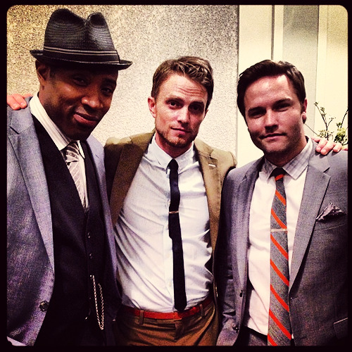 sundaystorms:  @.ScottPorter #hartofdixie season 3 here we go…the fellas… http://instagram.com/p/ZYLk-TvqGv/