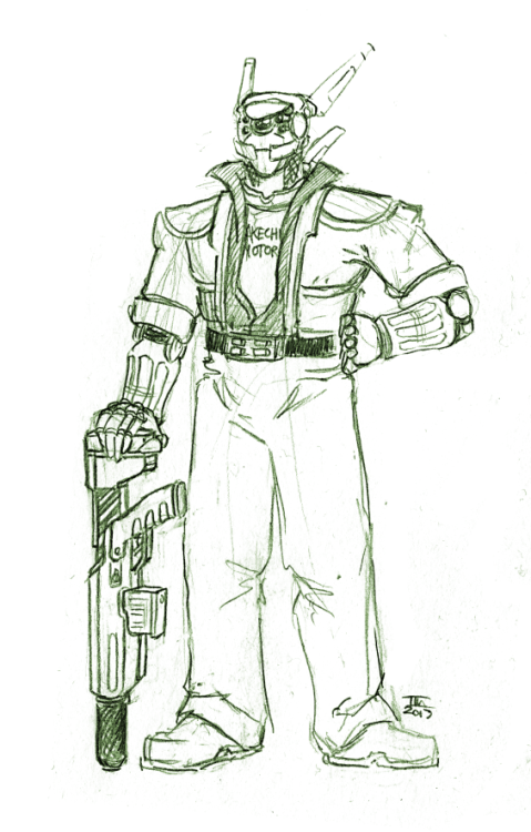Sketch of Briareos Hecatonchires From Shirow Masamune's Appleseed I recently re read the comic and damn do I want a 5th book.