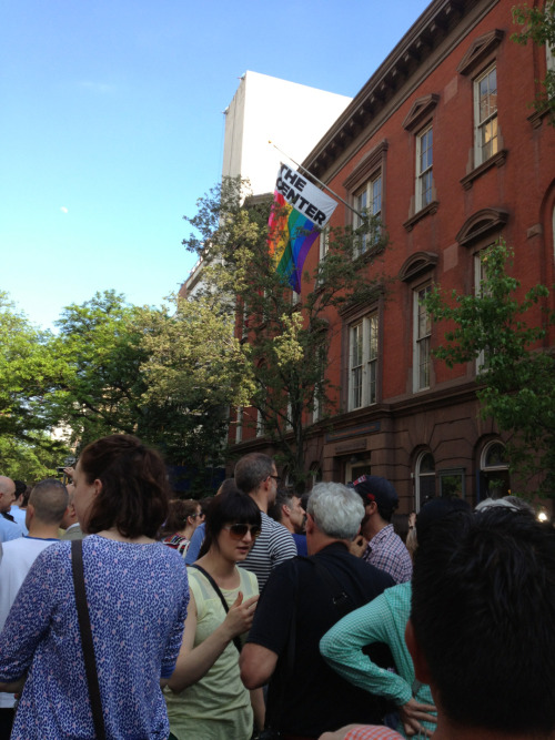 100's march against hate crimes in NYC West Village.