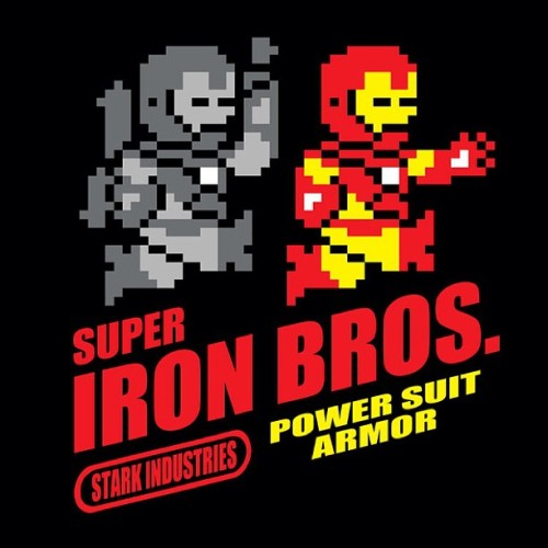 #SuperIronBros! #teeoftheday - #IronMan #WarMachine #SuperMarioBros #MashUp! #StarkIndustries #PowerSuitArmor #IronMan3 #tee #tshirt #tshirtoftheday #nerd #geek #fashion #marvel #videogames #gamer #comics #comicbooks #comicbooklegion