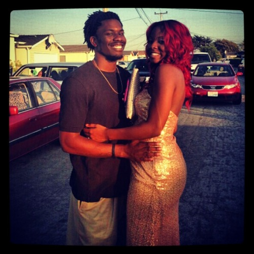 Me and my wife before her prom