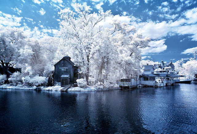 Walt Disney World - Magic Kingdom - Rivers of America (Infrared) by Tom.Bricker