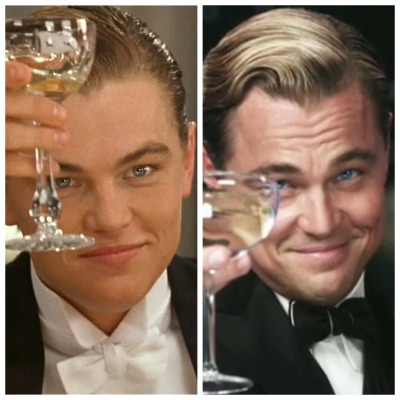elkane:  Jack Dawson… Penniless artist who wins a ticket onto Titanic in 1912, attends a first class dinner, develops a taste for the finer things in life, pockets the Heart of the Ocean, survives the sinking, pawns the diamond, spends the following ten years building his wealth and in 1922 moves to West Egg as Jay Gatsby… Millionaire with a shady past and fear of swimming pools.