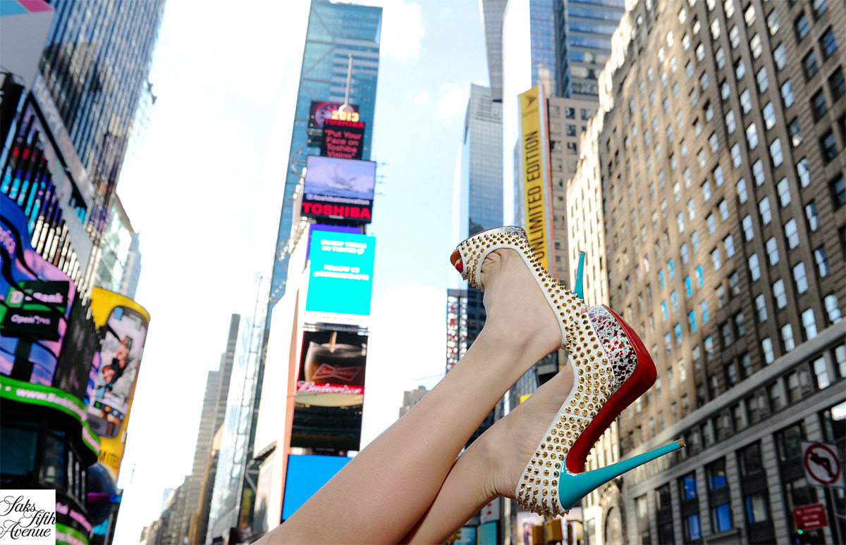 Kick up your heels in Times Square. Christian Louboutin.Photo by Kristen Somody Whalen