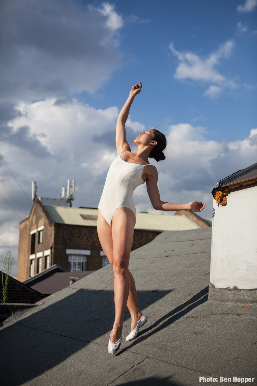 Dancers on Rooftops by Ben Hopper. Lucia Tong.Hackney Wick. London, UK. August 2012.