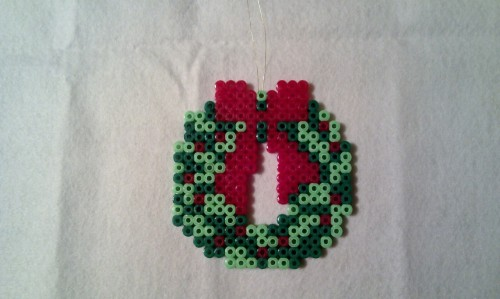 Christmas Wreath - Hama Beads