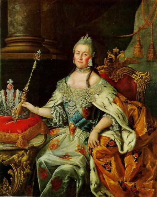lovesroyalhistory:  Alexei Petrovich Antropov's portrait of Catherine the Great, Empress of Russia.