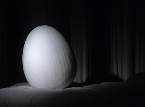 Egg (Study of Organic Geometry)Structure , acrylic light paste, 91 cm x 68 cm x 68 cm Javier Marchán, 2006Copyrighted image, all rights reserved