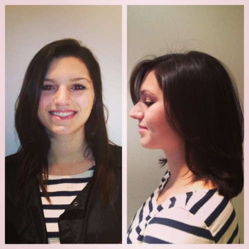 Before and After!!! #hair #makeover #beauty #amoycouturehair #hairisfashion #fashion #nyhairstylist #romorgan #picstitch