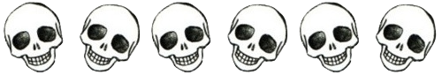 coastol:  some lil transparent skulls for your blog