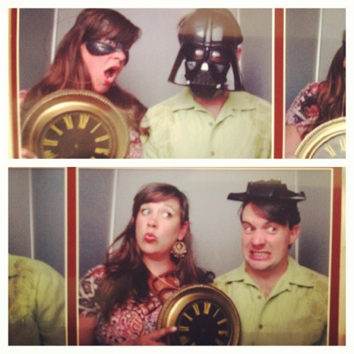 Photo booths are performance art opportunities. #ironforkdallas (at Dallas Contemporary)