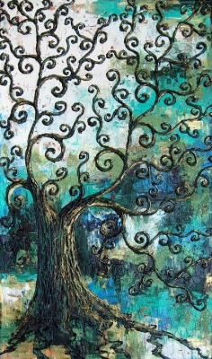 vufus:  Swirly Tree by Annie Walker