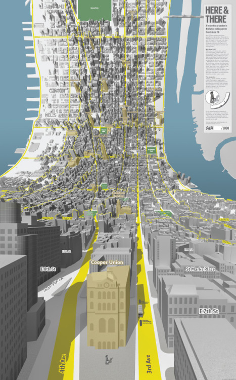 Here & There: Horizonless Projections of Manhattan | Colossal from http://bit.ly/15A8lzO