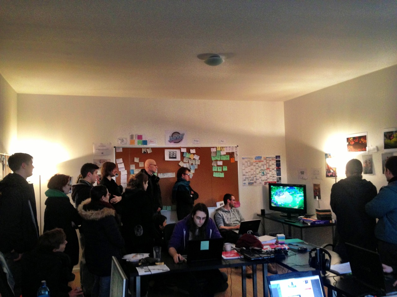 Today we got visited by game design students from the Zürcher Hochschule der Künste. Fun times! Great people! We are looking fwd seeing them again soon!