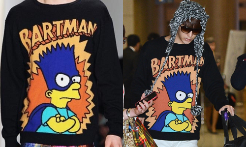 130317 B2ST @ AIRPORT | DONGWOONJEREMY SCOTT FALL/WINTER 2012 BARTMAN SWEATER