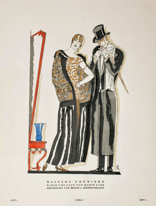 sydneyflapper:  Ernst L Kretschmann illustration for Styl Magazine, 1923