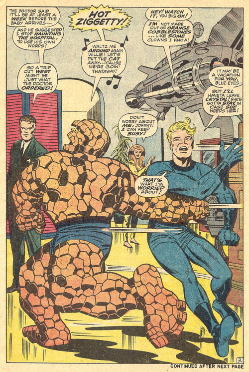Fantastic Four 80 The Thing splash page 1968 Kirby by giantsizegeek http://flic.kr/p/e4pTFm