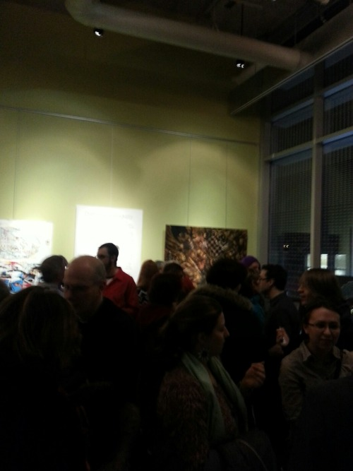Undercurrents at the Fritzi Gallery Last Thursday was the opening of an exhibit I curated with my friend Erin Saunders. The idea for the show was to have artworks that responded to the Undercurrents theatre festival at the GCTC—six plays and six artists! The Fritzi Gallery is such a beautiful space and so many awesome people showed up to the opening. The artists included: Eric Chan (eepmon), Karina Kraenzle, Betty Liang, Zoe Hussey, Tony Clark and Kristy Gordon. If you missed last Thursday, you can still check it out until this Friday. We also got a write up in apt613!