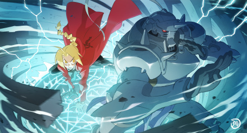 I've just finished to watch Fullmetal Alchemist on Netflix and wanted to do a little tribute, cause Alphonse body/armor is so goddamn cool to draw ! #Bill Otomo#catfish deluxe#fullmetal alchemist#alphonse elric#edward elric