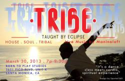 2night in Santa Monica - TRIBE!!!DONATION ONLY 7pm-8:30  2621 Pico Blvd! After a grand night performing at the Standard hotel in Hollywood, I'm spinning TONIGHT at Tribe!  Its a dance class meets a… spiritual-cardio experience. Spinning deep house.  Come out and sweat.