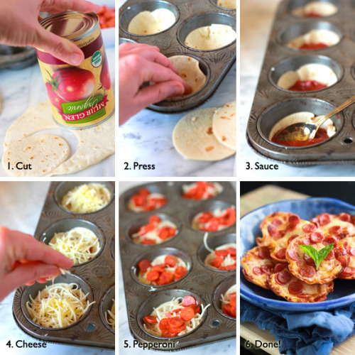 kitchenelves:  Mini Tortilla-Crust Pizza