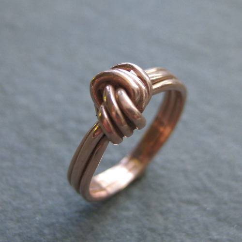 14 kt rose gold alternative engagement ring