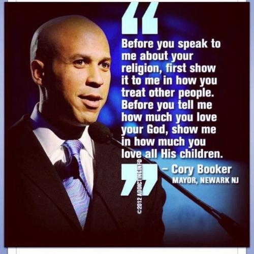 breanieswordvomit:   Cory Booker for ruler of world