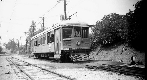 013 LATL 1377 R Line 3rd & Gramercy Pl. 19480622 AKW on Flickr. Photographer: Alan Weeks Los Angeles Transit Lines streetcar no.1377 on Line R at 3rd Street and Gramercy Place. June 22, 1948.