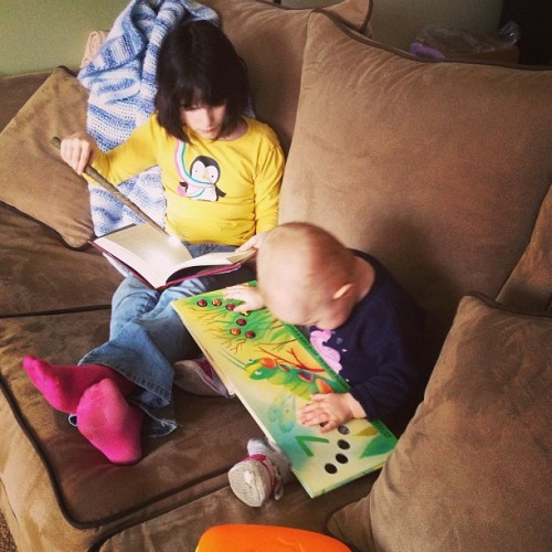 Little bookworms. http://bit.ly/Y276Ei