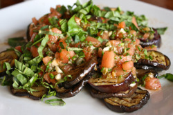 Grilled Eggplant in Tomato Vinaigrette