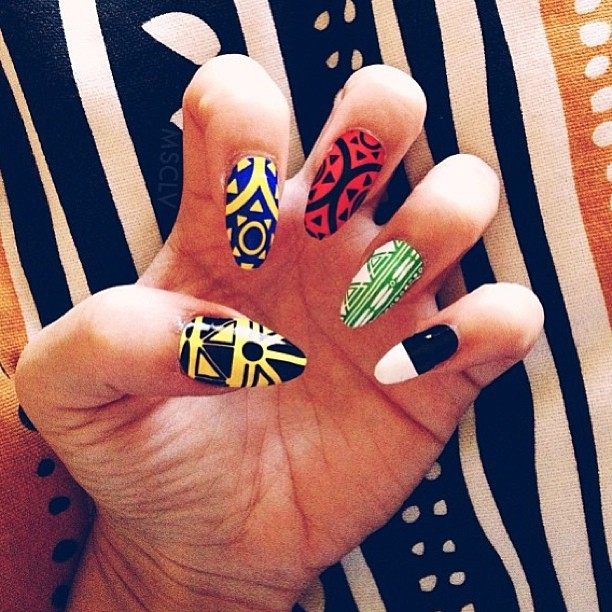 Umoja nail wraps worn by @baddiebey in her new Pepsi commercial! #melodyehsani x #ncla #nailart #naildesign #beyonce #pepsi (at Melody Eh$ani Store)