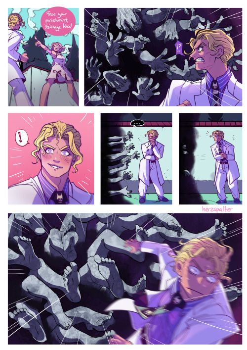 herzspalter:  Mr Kira goes to hell #LOL #how does herz come up with these #genius#jjba #diamond is unbreakable #jojo