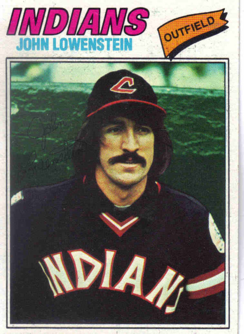 "John Lowenstein ""Hello. I'm here to kidnap your child play baseball."" DADHAT: 60 DERP: 45 MUSTACHE: 60 CREEPINESS: 80 Career bWAR: 8.1"