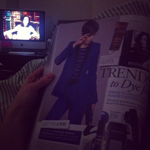 #friends + #bazaar 👌 #goodnight #magazine #cozy #relaxing
