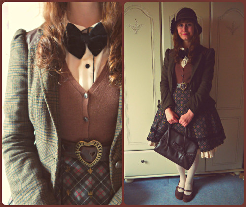 kleinwunderkammer:  Lambeth Walk (by Caitlin .) My outfit for a World War II theme day and flyby at the Museum of Flight.