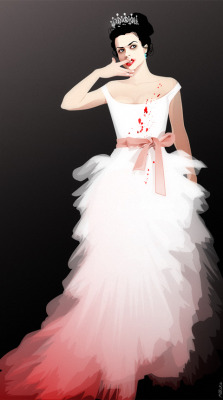 fem!Moriarty  in a modified wedding dress from Westwood ^^