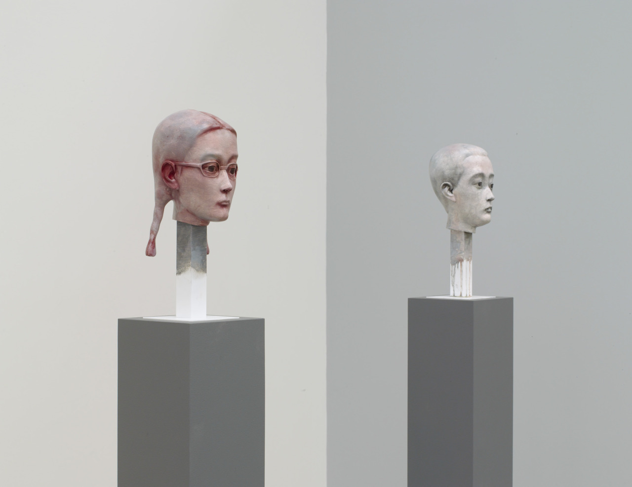 Tomorrow is your last day to visit Zhang Xiaogang's first series of painted bronzes.  Sculpted with great clarity in a political-realist style that echoes the state-sanctioned sculptures of the Cultural Revolution, the bronzes range in size from six inches to over five feet tall. © Zhang Xiaogang, courtesy Pace Gallery