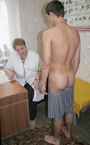 Sports medical exam naked