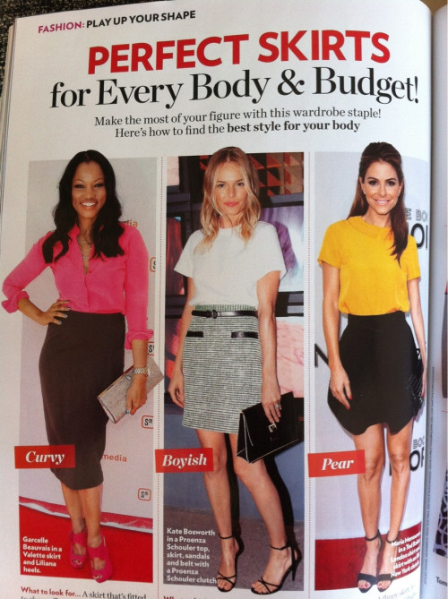 So glad fashion magazines are celebrating ALL body types. via