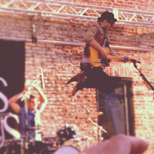 Definitely my favorite picture from today #atlasgenius #1045blockparty #jump #concert #music #awesome